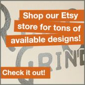 Shop our Etsy store! Custom Vinyl Decal Transfer Stickers